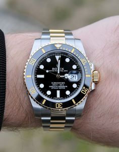 Pinterest @ dapperNdame Rolex Submariner Gold 116613LN