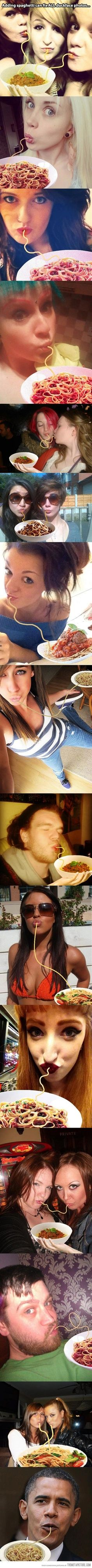 """The proper way to fix """"duck face"""" photos… It totally works!!  :D"""
