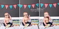 6 month baby boy photo idea #bookworm