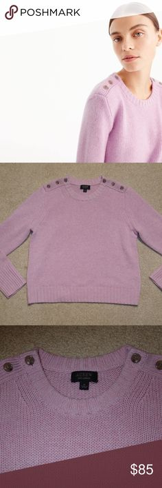 """J. Crew Cropped Sweater in Everyday Cashmere """"""""This new (100% cashmere) sweater feels crazy soft, without being crazy expensive—and we wouldn't be surprised if you want to reach for it every day.""""  Armpit to Armpit: 15"""" Armpit to Bottom of Sleeve: 18"""" Back Collar to Bottom of Sweater: 21.5""""  Style: H0763 J. Crew Sweaters Crew & Scoop Necks"""