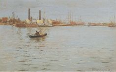 William Merritt Chase, The East River Fine Art Reproduction Oil Painting