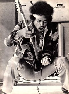 Jimi Hendrix / Black & White Photography