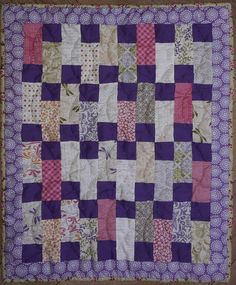 https://flic.kr/p/B5yd4o | 15 Little Purple Squares | Made in the special size for the AMC hospital