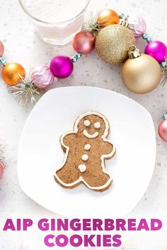 If youre looking for AIP desserts to enjoy during the holidays you have to try these AIP Gingerbread Cookies. Its a family friendly AIP Christmas cookie. Sugar Free Bacon, Paleo Recipes Easy, Free Recipes, Pumpkin Pudding, Gingerbread Cookies, Christmas Cookies, Gingerbread Houses, Baked Pumpkin, How To Eat Paleo