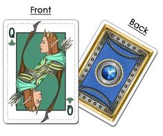 Elven Queen of Clubs from kingdoms of Erdens fantasy comic playing cards now on kickstarter Kingdoms of Erden: Fantasy Comic Face Cards. #fantasy #comic #playingcards  #spades #clubs #hearts #diamonds #king #queen #jack #knight #elf #dwarf #red #blue #skulls #eagles #rams #poisonivy #gems #rose #runes #keltic #sword #axe #scepter #ordinator #dread #paladin #dwarven #dwarves #elven #elves #bow #arrows #medieval #runic #armor #thorns #feathers #vines #leaves #shield #ace
