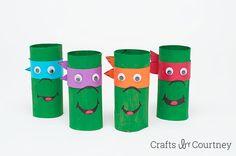 Easy Kids Craft Toilet Paper Roll Teenage Mutant Ninja Turles