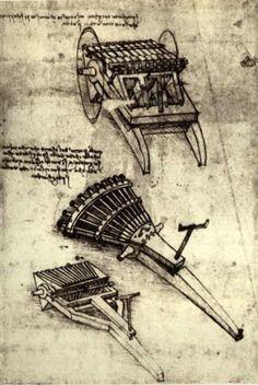 Leonardo Da Vinci-multi barrel gun