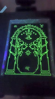 LOTR Doors of Durin perler beads by PixelPerfect8