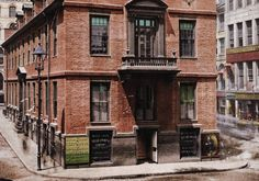 First color photos in America - Old State House, Court St, Boston