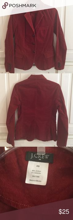 J. Crew corduroy blazer J. Crew corduroy blazer. Rust color. Excellent condition. Perfect for fall! J. Crew Jackets & Coats Blazers