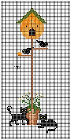 halloween birdhouse chart