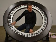 Brockett Parsons one of the most talented keyboard players around had a novel idea. The worlds first 360 degree piano. Music Guitar, Piano Music, Art Music, Lady Gaga, Book Boyfriends, Van Halen, Sound Of Music, Music Is Life, Motif Music