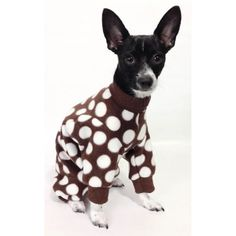 K9exclusive brown polka dot dog pajamas on etsy 10 00
