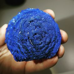 """Startling azurite """"sun"""" with rose-like texture. Science And Nature, Rocks And Minerals, Geology, Australia, Sun, Texture, Crystals, Rose, Desserts"""