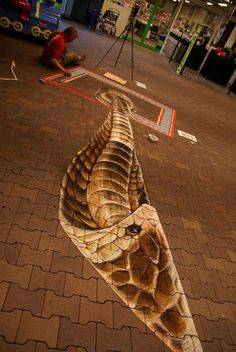 3D Art- Cobra, Pinned in 2013, the year of the Black Water Snake