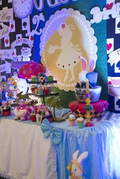 Fantastic Alice in Wonderland birthday party! See more party planning ideas at CatchMyParty.com!