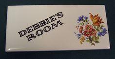 """c.1980s ceramic door plaque. I had one like this on my bedroom door - but mine said """"Horror's Room""""!!!"""