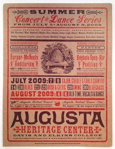 letter press poster