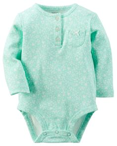 Baby Girl Floral Print Bodysuit | Carters.com