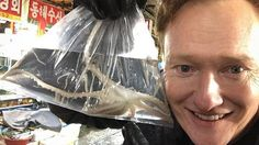 Conan lands in Seoul and promptly saves an octopus http://ift.tt/1RFhtdg  Conan OBrien landed in Seoul on Monday morning and went about having a pretty busy day despite flying some 14 hours to get there.  The talkshow host is in the country to film a special segment and is live-blogging it on Instagram. Hes also posting on Korean social network Kakao which quickly verified him ahead of his visit.  See also: Kevin Hart Ice Cube and Conan are the most distracting drivers ed teachers ever  He…