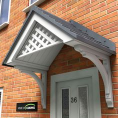 Derwent Door Canopy with pitch tile roof                                                                                                                                                                                 More