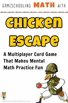 Gameschooling math with Chicken Escape (game review!) Memorizing math facts and using order of operations through a game is far better than worksheets. #gameschooling #gameschool #gameschoolacademy #homeschoolgameschool #games #game #tabletopgame #tabletop #boardgame #boardgames #gamer #gamergirl #gamenight #familygamenight #familygame #familygames #educationalgames #playtolearn Abc School, School Games, Family Game Night, Family Games, Memory Strategies, School Academy, Get To Know You Activities, Order Of Operations, Math Practices
