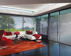 Silhouette Shadings - LUXAFLEX® SILHOUETTE® Shadings combine the beautiful characteristics of curtains, shades and blinds in a stunning design like no other.