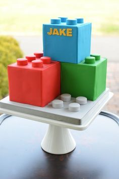 Kids Party Food Idea Lego Cake