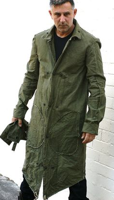 Men's Military Style Army Green Weatherproof Coat From by urbandon, $299.00