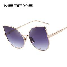 MERRY'S Women Cat Eye Sunglasses Classic Brand Designer Sunglasses Luxury Diamond Encrusted Lens S'8026