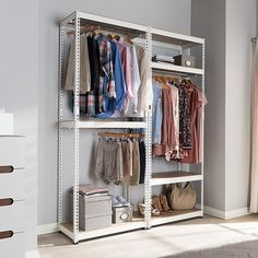 Small Closet Space, Small Space Bedroom, Small Closets, Closet Shelves, Closet Storage, Closet Organization, Storage Rack, Extra Storage, Closet Doors