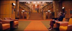 The lobby of the Grand Budapest Hotel during its decline in the 1960s