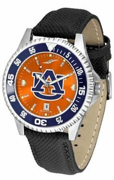 Auburn University Tigers Men's Leather Wristwatch SunTime. $79.95. Officially Licensed Auburn Tigers Men's Leather Wristwatch. Adjustable Band. Poly/Leather Band. Men. AnoChrome Dial Enhances Team Logo And Overall Look. Save 21% Off!