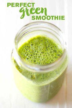 Perfect Green Smoothie via @eatwithinmeans