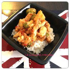 Pollo alla soia con broccoli e riso