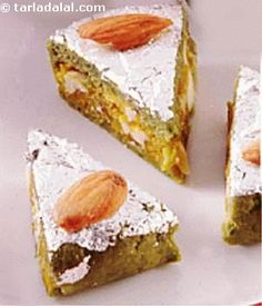 Badam Pista Basket are delightful mithai made in the shape of baskets. Invite your guests for festivals with Badam Pista Baskets. Almonds and pistachios make delightful mithai baskets. Indian Dessert Recipes, Indian Sweets, Indian Recipes, Pakistani Recipes, Sweet Desserts, Sweet Recipes, Burfi Recipe, India Food, Food Website