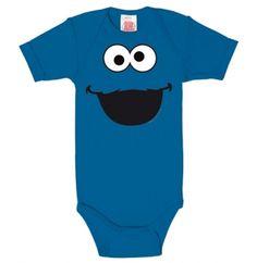 Baby Body - Krümelmonster - Sesamstrasse - Faces - Cookie Monster baby infant toddler
