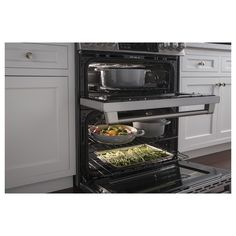 Stacked Microwave And Double Oven Kitchen Pinterest