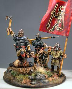 Penda early Saxon king command group