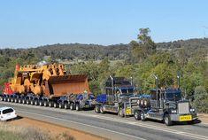 HHA Great Northern Highway, south of Bindoon, WA. Pair of KW's working hard. Huge Truck, Big Rig Trucks, Train Truck, Road Train, Heavy Duty Trucks, Heavy Truck, Heavy Construction Equipment, Heavy Equipment, Custom Big Rigs