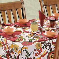 Carnival Printed Rectangular Table Linen-3702