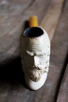 Antique 40's Bearded Man Meerschaum Pipe by mountainmantrading, $95.00