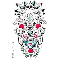 HJLWST Individuality Waterproof Temporary Tattoos 3D Totem Design Large Arm Tattoo Sticker >>> You can get additional details at the image link. (This is an affiliate link and I receive a commission for the sales) #TemporaryTattoos