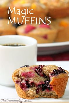Make-Ahead Magic Muffins -- 12 healthy flavors from one multigrain refrigerator batter.   From TheYummyLife.com