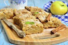 No-Bake Apple Pie Bars / Doctor Oz Show.  Ing's:  oat flour, coconut flour, protein powder, cinnamon, nutmeg, almond butter, maple syrup, unsweetened applesauce, almond milk.
