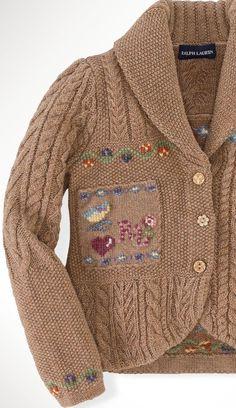 ALALOSHA: VOGUE ENFANTS: Knit cardigan by Ralph Lauren for kids
