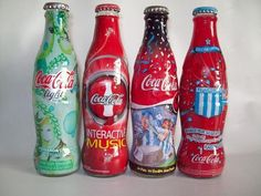 Coca Cola, 4 bottles LIMITED EDITION, FREE SHIPPING WORLDWIDE  (18003)