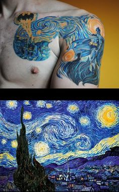 this is preety cool! You have to admit! Van Gogh/Batman Tattoo