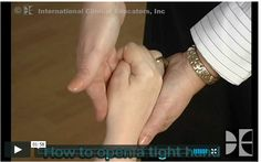Video - Need help opening a spastic hand? Here's a 2 minute video illustrating a method used by many therapists with great success.