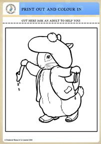 benjamin bunny coloring pages - photo#4